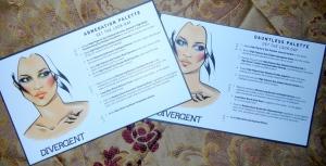 Divergent cosmetics face charts