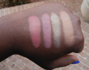Divergent cosmetics cheek palette swatch
