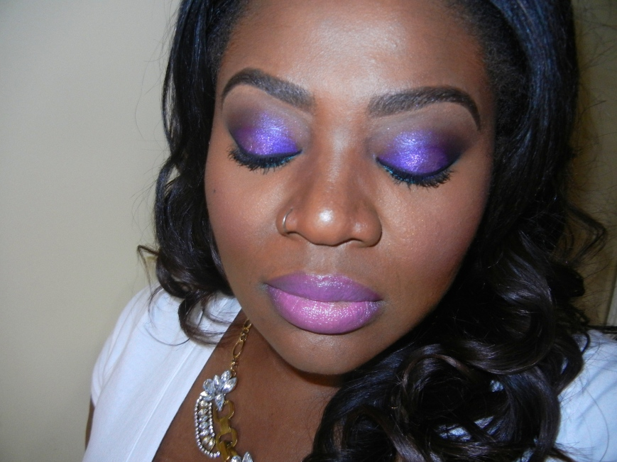Urban Decay Electric palette FOTD dark skin