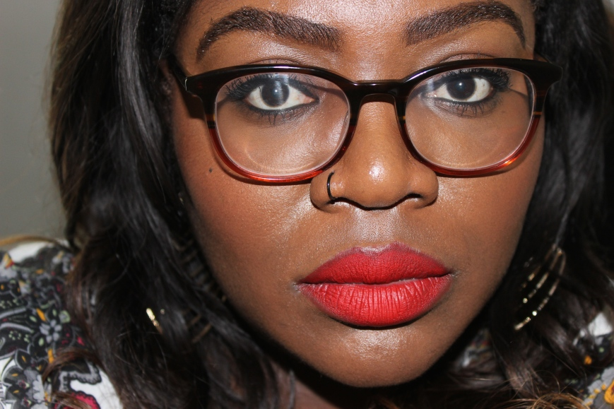 Lime Crime velvetine red velvet dark skin