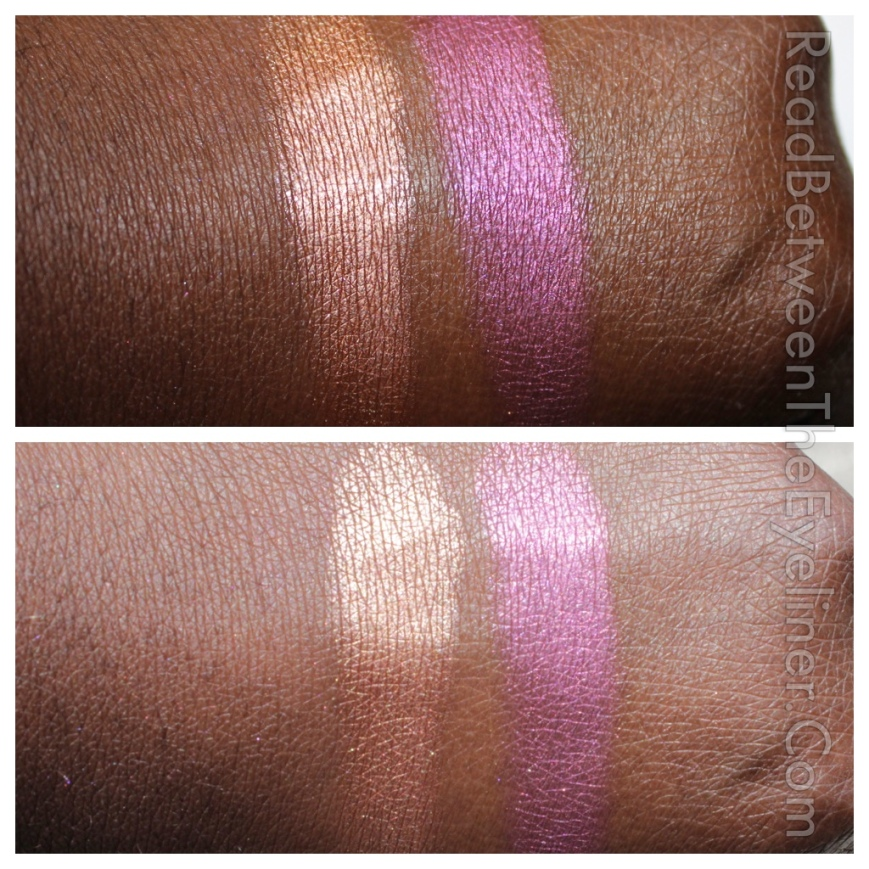 colourpop sticky sweet and avalon highlighters on dark skin