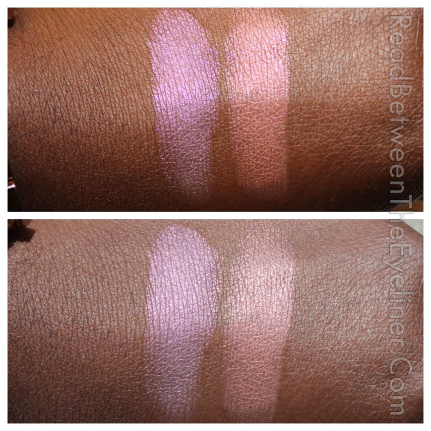 Colourpop tasty monster highlighters on dark skin swatch