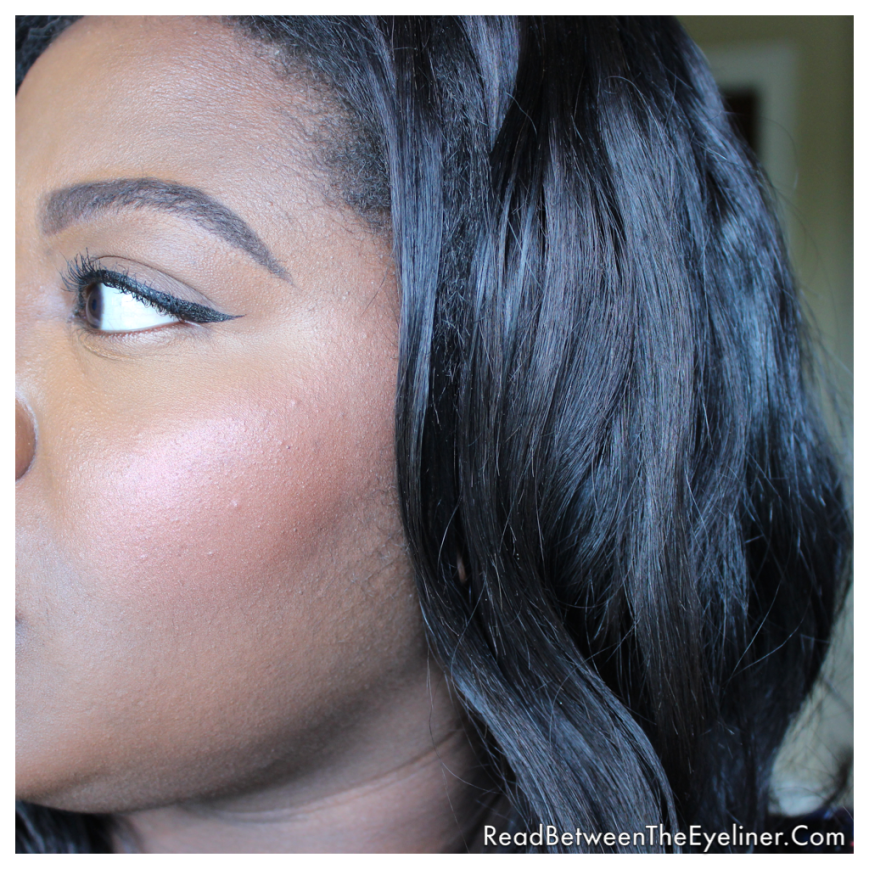 Colourpop cosmetics tasty blush highlight on dark skin nw45