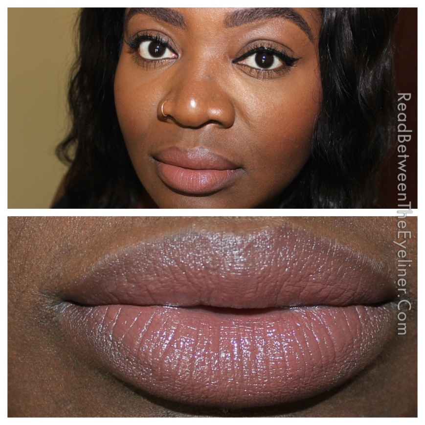 Bite butter cream lipstick in marzipan on dark skin nw45 nc50 woc swatch