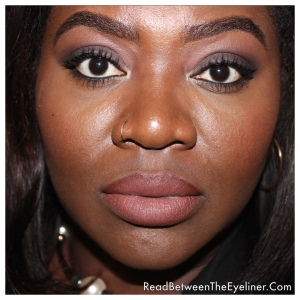 MAC Whirl lipstick on dark skin NW45 WOC