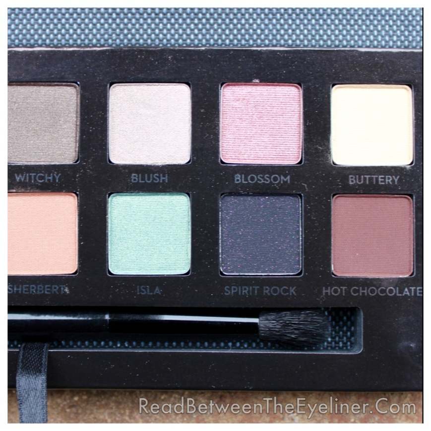 Anastasia self made palette swatch
